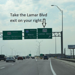 Take the Lamar exit