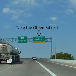 Take the Ohlen Rd exit