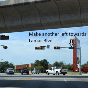 Make another left towards Lamar