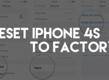 How To Reset iPhone 4S To Factory