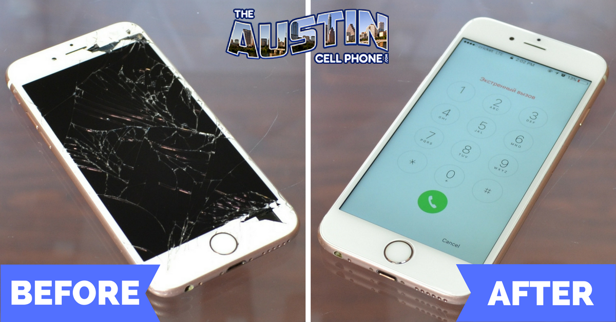 iPhone Screen Repair In Austin Texas Before After